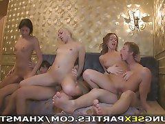 Amateur, Blowjob, Group Sex, Masturbation, Teen
