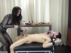 BDSM, Bondage, Cumshot, Femdom, Handjob