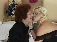 Granny, Hairy, Lesbian, Mature