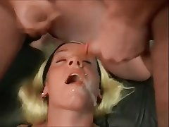 Blonde, Bukkake, Cum in mouth, Cumshot, Facial