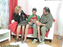 Mature, MILF, Teen, Threesome
