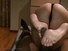 Big Butts, Cumshot, Foot Fetish, Interracial