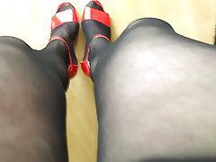 German, Amateur, Stockings
