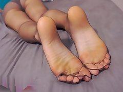 Foot Fetish, Pantyhose, POV, Stockings