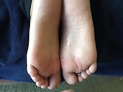 Amateur, Cumshot, Foot Fetish, Footjob, Wife