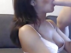 Amateur, Blowjob, Brunette, Webcam