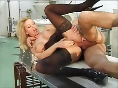 Anal, Blonde, Big Boobs, Stockings