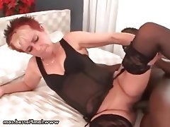 Anal, Mature, Stockings, Interracial