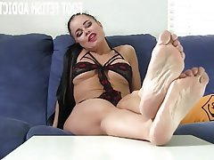 BDSM, Stockings, Femdom, POV, Foot Fetish