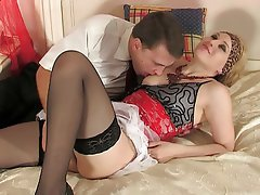 Anal, Blonde, Russian, Stockings