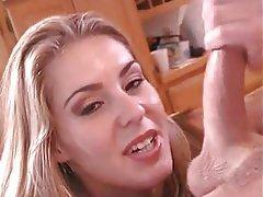 Blonde, Blowjob, Cumshot, Facial, Handjob