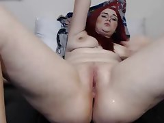 Big Boobs, Masturbation, Redhead, Squirt, Webcam