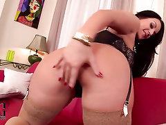 Big Ass, Big Tits, Ebony, Stockings, Masturbation