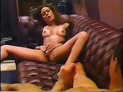 Brunette, Handjob, Masturbation, Vintage