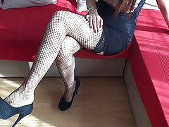 Amateur, BDSM, Femdom, Foot Fetish, Stockings