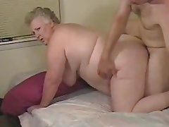 Amateur, Granny, Handjob, Big Boobs