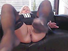 Amateur, Blonde, Foot Fetish, Mature, Pantyhose
