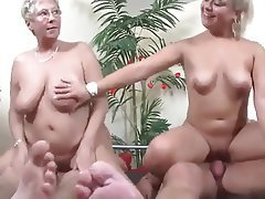 Granny, Group Sex, Mature, MILF