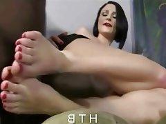 Cumshot, Foot Fetish, Interracial, Masturbation