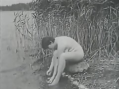 Hairy, Outdoor, Shower, Vintage